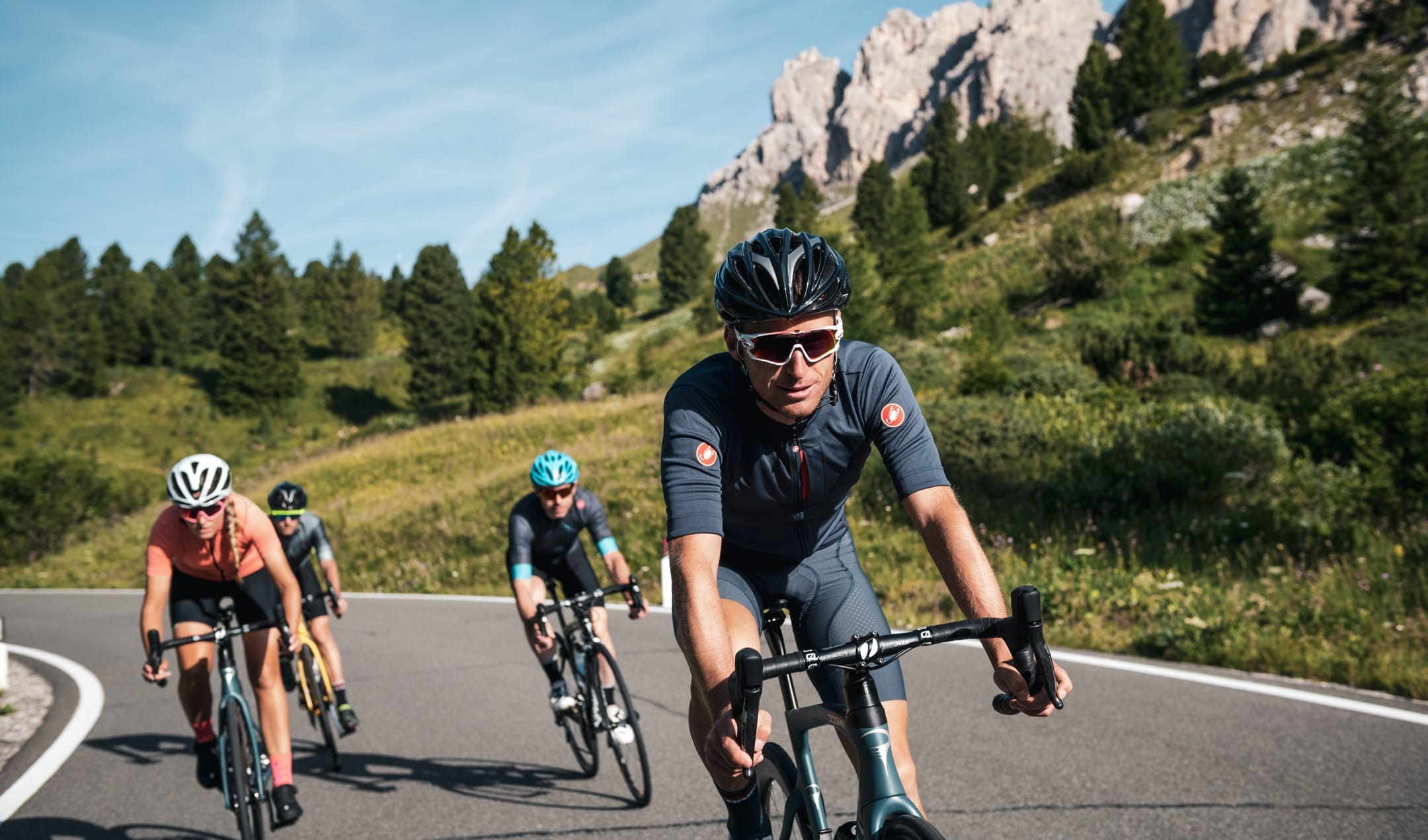 Amateur cycling event in the Dolomites